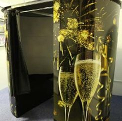 champagne photo-booth
